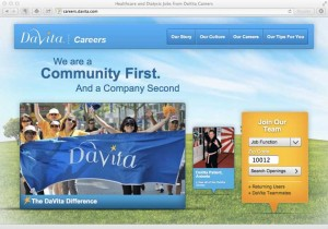 DaVita Careers Homepage